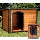 New Precision Outback Log Cabin Wood Pet Dog House with Door Wooden - Many Sizes