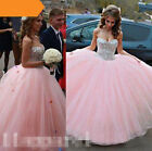 2017 New Pink Wedding Dress Lace Bridal Gown Stock Size 4-6-8-10-12-14-16
