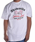 Akademiks Men's White Edukator V Neck Tee Shirt Choose Size