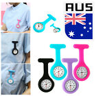 Hot Sale Silicone Nurse Watch Brooch Fob Tunic Quartz Movement Watch Purple HQ