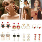 1 Pair Elegant Women Tassel Rhinestone Ear Stud Fashion Earrings Chain