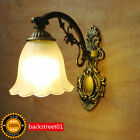 Retro Vintage Iron Industrial Wall Lamp LED Bulb  Sconce Bedroom Bedside Lights
