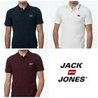 Mens Designer Jack Jones Jeans Regular Fit Smart T Shirt Polo Top Stretch Shirt