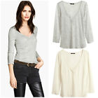 Women's Lyocell Top from H&M - Gray or White, Sizes XS, S, M & L