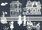 LOTS 6-28 PCS. SUB-SETS VINTAGE SCENE DIE CUTS* HOME FENCE HOUSE BOY GIRL *READ!