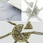 1Pcs Slice Pizza Charm Pendant Chain Necklace Best Friend Friendship Silver/Gold