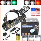 BORUiT 30W 13000lm 3xXM-L T6 LED Headlamp Head light Torch 2X18650 + Charger Kit