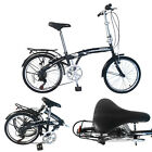 20 26 INCH Folding Bike 6 7 Speed Bicycle Storage Silver School Sports Shimano