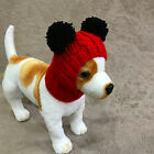 Pet Clothes Hand Knit Hat Pullover Hoodie Red Hat for Small Dog XXS XS S