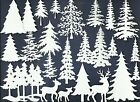 LOTS 6-18 PCS. SUB-SETS WINTER FOREST DIE CUTS* CHRISTMAS TREE PINE SNOW *READ!