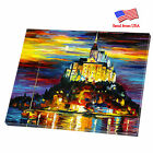 """Stretched Canvas Print Mirrored Sides ArtWall Deco 11""""x14"""" """"Island Castle"""""""