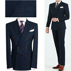 NAVY BLUE Men s Double Breasted Slim Fit Prom Suit Wedding Tuxedos Formal Suits