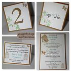 VINTAGE BIRDCAGE Wedding :TABLE DECORATION Stationery;5 designs/60 colours