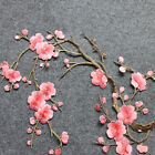 Lovely Embroidered Plum Blossom Flower Patch Iron/Sew on Applique Motif Craft ab
