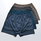 3PCS Men's Knitted Silk Boxer Brief underwear  Size M L XL XXL Multi-Color