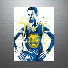 Stephen Curry Golden State Warriors Front Blue Jersey Poster FREE US SHIPPING on eBay