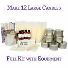 12 Large Tin Candle Making Kit - FULL KIT - Choice of Fragrance Pack