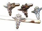 RAF Medical Cufflinks, Tie Clip Lapel Badge Set or Individual