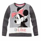 "Disney Minnie Sweatshirt ""Like"", Glitzereffekt, grau, Gr. 104-140"