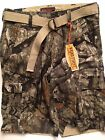 Mossy Oak Treestand Camo Fish Hunter Cargo Shorts 30 32 34 Wearfirst Belt $50