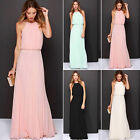 Women Long Chiffon Evening Formal Party Cocktail Dress Bridesmaid Prom Gown  fg
