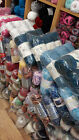 new stocklot job lot mixed lot of hand knitting wool ( 12 kg ) 120 balls or more