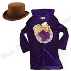 DELUXE CHILDRENS KIDS BOYS WILLY WONKA FANCY DRESS COSTUME JACKET HAT BOOK WEEK