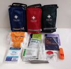 1/5 PERSON FIRST AID KIT - 63 ITEMS - COMPARTMENTS & BELT LOOP - TRAVEL, WORK