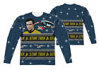 "Star Trek TOS Trek Sweater"" Dye Sublimation Double Sided Long Sleeve Tee"