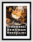 MOVIE FILM STROMBOLI BERGMAN ROSSELLINI VOLCANO DISASTER FRAMED PRINT B12X5585