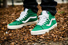 mens 8/10 vans sk8 hi reissue verdant green/marshmallow 10 oz canvas/vn000ZA0F68