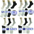 3,6,12 Pairs Diabetic Crew Circulatory Socks Health Women Cotton 9 10-15