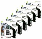 LOT OF 25 KINGSTON micro SD SDHC 4GB 8GB 16GB 32GB Memory...