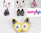Dotty Fish Girls Soft Leather Baby and Toddler Shoes with non slip Suede Soles <br/> FREE UK DELIVERY Baby Girl Shoes 0-6 Months - 4-5 Years