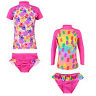 Cute Girls Swimsuit Popsicles Swimming Costume 2-8Y Tankini Set Beachwear