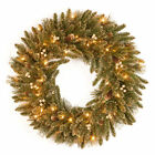 """National Tree Company 30"""" Pre-Strung UL Clear Lighted Glittery Fire Resistant"""