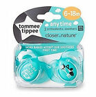 Tommee Tippee 6-18m ANy time Close to Nature Silicon Soother Pacifier Dummy