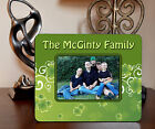 "4""x6"" PHOTO FRAME - IRISH CLOVER 2 - ADD NAME OR TEXT FREE - Family Gift Picture"
