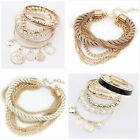 Women New Lots Style Cuff Bracelet Charm Rhinestone Bangle Jewelry