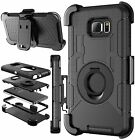Outer Box Hard Hybrid Case Cover w/ Belt Clip Holster Stand For Samsung Galaxy
