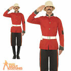 Mens Boer War Soldier Costume British Military Uniform Fancy Dress Zulu Outfit