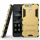 Huawei P9/P9 Lite Dual Layer Hybrid Rugged Case Shockproof Cover w/ Kickstand