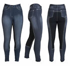HyPERFORMANCE Denim Look Stretchy Jeggings Full Seat Ladies Riding Breeches