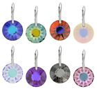 Sterling Silver Earrings with Genuine SWAROVSKI 6724 Sun 19mm Crystals