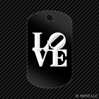 Love Park Keychain GI dog tag engraved many colors  philly philadelphia