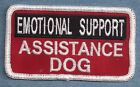 EMOTIONAL SUPPORT ASSISTANCE service dog vest patch Sew on or with hook back
