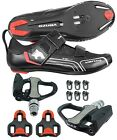 Venzo Bicycle Cycling Triathlon Shoes Pedals Shimano SPD SL Look Black