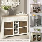 Florence Sideboard with wine rack.Kitchen sideboard and storage basketsASSEMBLED
