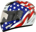AFX FX-95 Red/White/Blue American Flag Full Face Motorcycle Helmet Choose Size