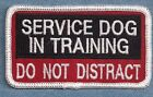 SERVICE DOG IN TRAINING DO NOT DISTRACT vest patch - Sew on or with hook back
